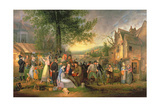 St. James's Fair, Bristol, 1824 Giclee Print by Samuel Colman