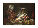Homage to Chardin, 1871 Giclee Print by Philippe Rousseau