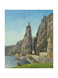 The Rock at Bayard, Dinant, Belgium, C.1856 Giclee Print by Gustave Courbet