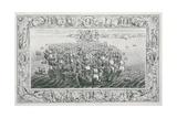 Spanish Armada, 1739 Giclee Print by John Pine