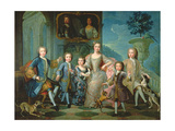 Portrait of the Family of the Duke of Valentinois Giclee Print by Pierre Gobert