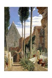 Shelley's Grave in the New Protestant Cemetery in Rome, 1873 Giclee Print by William Bell Scott