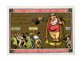 Christmas Card Giclee Print by Walter Crane