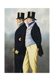 Admiral Henry John Rous (1795-1877) and George Payne (1803-78), Fathers of the Turf Giclee Print