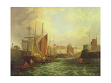 The Mouth of the Yare, 1821 Giclée-Druck von George Vincent