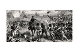 The Battle of Fleurus, 26 June 1794, Engraved by Emile Deschamps Giclee Print by Felix Philippoteaux