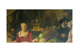 The Vegetable Market Giclee Print by Ferdinand Wagner