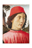 Portrait of a Young Man, 15th Century Giclée-tryk af Domenico Ghirlandaio