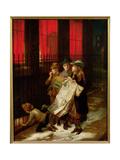 Carol Singers, 1889 Giclee Print by Augustus Edward Mulready