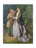 Danet and the Strolling Fortune-Teller, 1859 Giclee Print by John Scott Cavell