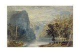 The Lorelei Rock, C.1817 Giclee Print by Joseph Mallord William Turner