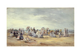 The Beach at Trouville, 1873 Giclee Print by Eugène Boudin