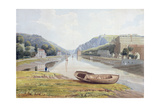 View Down the Avon with Hotwells and Clifton, C.1825 Giclee Print by Samuel Jackson