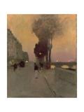 Quai Bourbon, Paris Giclee Print by Luigi Loir