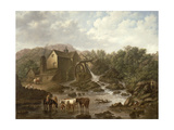 River Scene with Overshot Mill, 1833 Giclee Print by Charles Towne