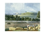 A View from the Park Place across Whiteladies (Now Queen's) Road to the Royal Fort, 1824 Giclee Print by Samuel Jackson