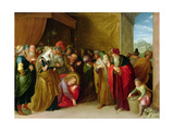 Christ and the Woman Taken in Adultery Giclee Print by Frans II the Younger Francken