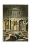 The Ceremony of Lord Nelson's Interment in St. Paul's Cathedral from 'The History and Graphic… Giclee Print by William Orme