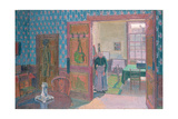 Interior with Mrs Mounter, 19th Century Giclee Print by Harold Gilman