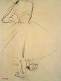 Ballet Dancer from Behind, 19th Century Giclée-Druck von Edgar Degas