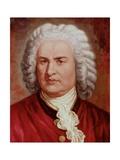 Portrait of Johann Sebastian Bach Giclee Print by Gustav Zerner