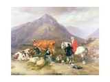 Among the Mountains in Cumberland Giclee Print by Thomas Sidney Cooper