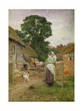 The Milkmaid Giclee Print by Henry John Yeend King