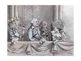 Caricature of the Audience at the Commemoration of Handel in Westminster Abbey in 1784, 1787 Gicleetryck av John Nixon