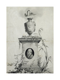Design for the Title Page of the Collected Works of Dr Thomas Arne (1710-78) Giclee Print by Edward Francis Burney