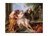 Suzanna and the Elders, 1746 Giclée-Druck von Joseph-Marie the Younger Vien