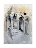 A Gothic Stairway in Chester Cathedral Giclee Print by John Ruskin