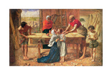 Christ in the House of His Parents, 1863 Giclee Print by  J.E. Millais and Rebecca Solomon