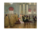 The Marriage of Tsar Nicholas II (1868-1918) and Alexandra Feodorovna (1872-1918) 1894 Giclee Print by Ilya Efimovich Repin