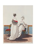 "Afternoon Dresses from Heideloff's ""Gallery of Fashion"", Early 19th Century Giclee Print by Nicolaus von Heideloff"