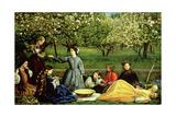 John Everett Millais - Spring (Apple Blossoms) 1859 Digitálně vytištěná reprodukce