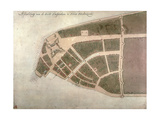 View of New Amsterdam, Costello Plan, 1660 Giclee Print by Jacques Cortelyou