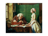 Dr Johnson (1709-84) at Cave's the Publisher, 1854 Giclee Print by Henry Wallis