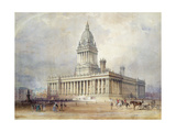 Design for Leeds Town Hall, 1854 Giclee Print by Cuthbert Brodrick