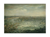The Thames During the Great Frost of 1739 Giclee Print by Jan Griffier