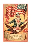 'Fourth of July Greetings' Postcard Giclee Print