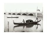 View of a Funeral Gondola 1880-1920 Giclee Print