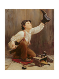 The Shoeshine Boy Giclee Print by Karl Witkowski