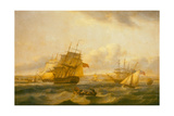 Man-O'-War and Other Shipping at Spithead Off Portsmouth Giclee Print by Thomas Luny