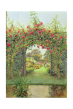 Crimson Rambler, Harleyford Manor, Marlow Giclee Print by Ernest Arthur Rowe