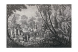 Lib324H View from the Middle of the Ruins at Vien Chan, Laos, Book Illustration from 'A Journey… Giclee Print by L. Delagorte