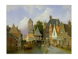 Canal Scene in Holland, 1898 Giclee Print by Pieter Christiaan Cornelis Dommelshuizen