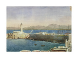 The Harbour and Jetty at Algiers, C.1830 Giclee Print by Theodore Leblanc