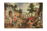 Fruit and Flower Market Giclée-Druck von Sebastian Vrancx