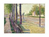 The Railway Junction at Bois-Colombes, or La Route Pontoise, 1886 Gicléetryck av Paul Signac