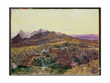 Cuillin Ridge, Skye from Sligechan, 19th Century Giclee Print by John William Inchbold